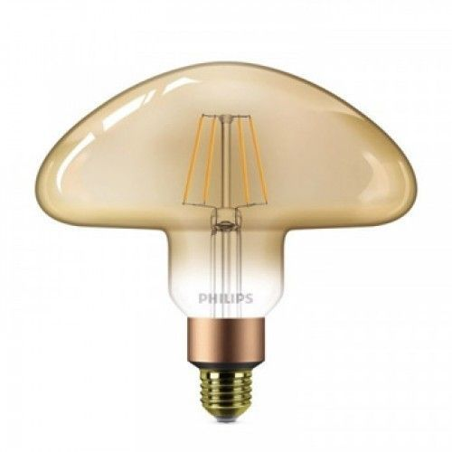 Philips LED classic E27 5W 350lm 2000K Paddenstoel Gouden coating