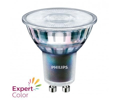 Philips Master LED GU10 5,5W 375lm 3000K Lamp Transparant