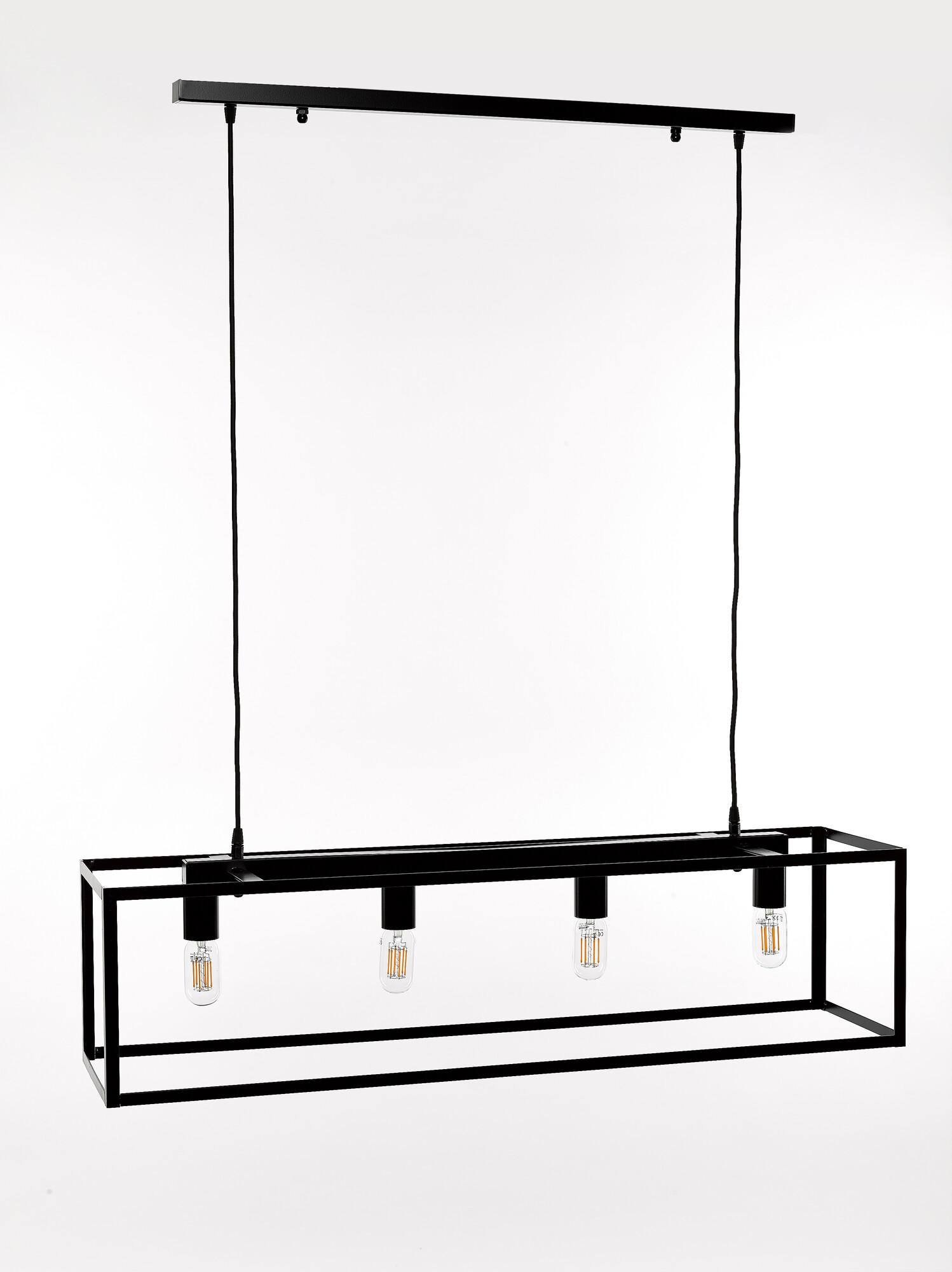 QUADRO2 Hanglamp E27 4x Zwart