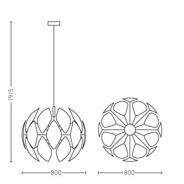 Philips CHIFFON Hanglamp E27 1x Rond Wit