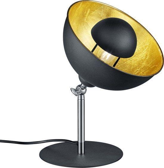 LIEGE Tafellamp E27 1x Zwart