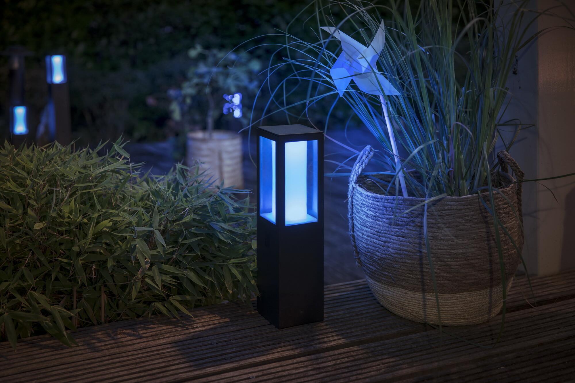 Philips HUE IMPRESS Tuinpaal LED 2x8W/600lm Zwart