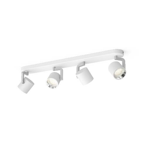 Philips BYRL Opbouwspot LED 4x4,3W/430lm Wit