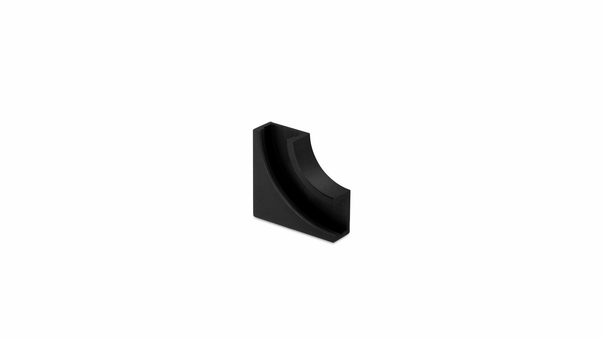 Minimal track 24V hoek 90° plafond Zwart