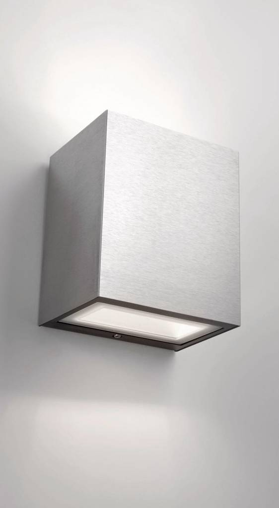 Philips FLAGSTONE Wandlamp LED 1x8W/270lm Lichtgrijs