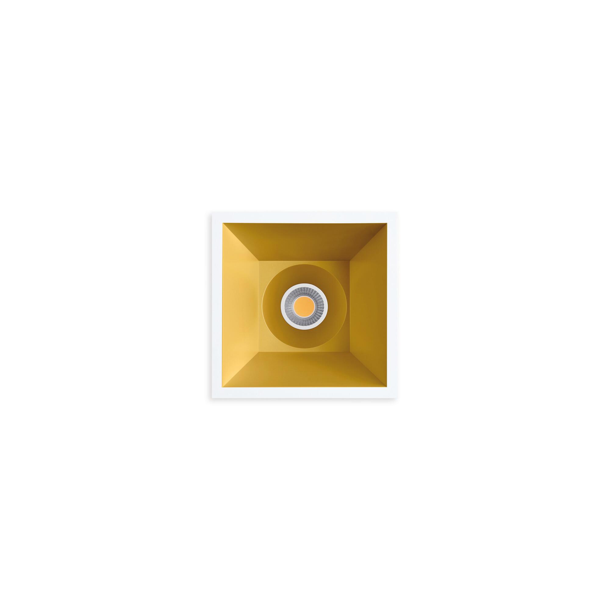 SWAP Inbouwspot LED 1x7W/910lm Vierkant Goud