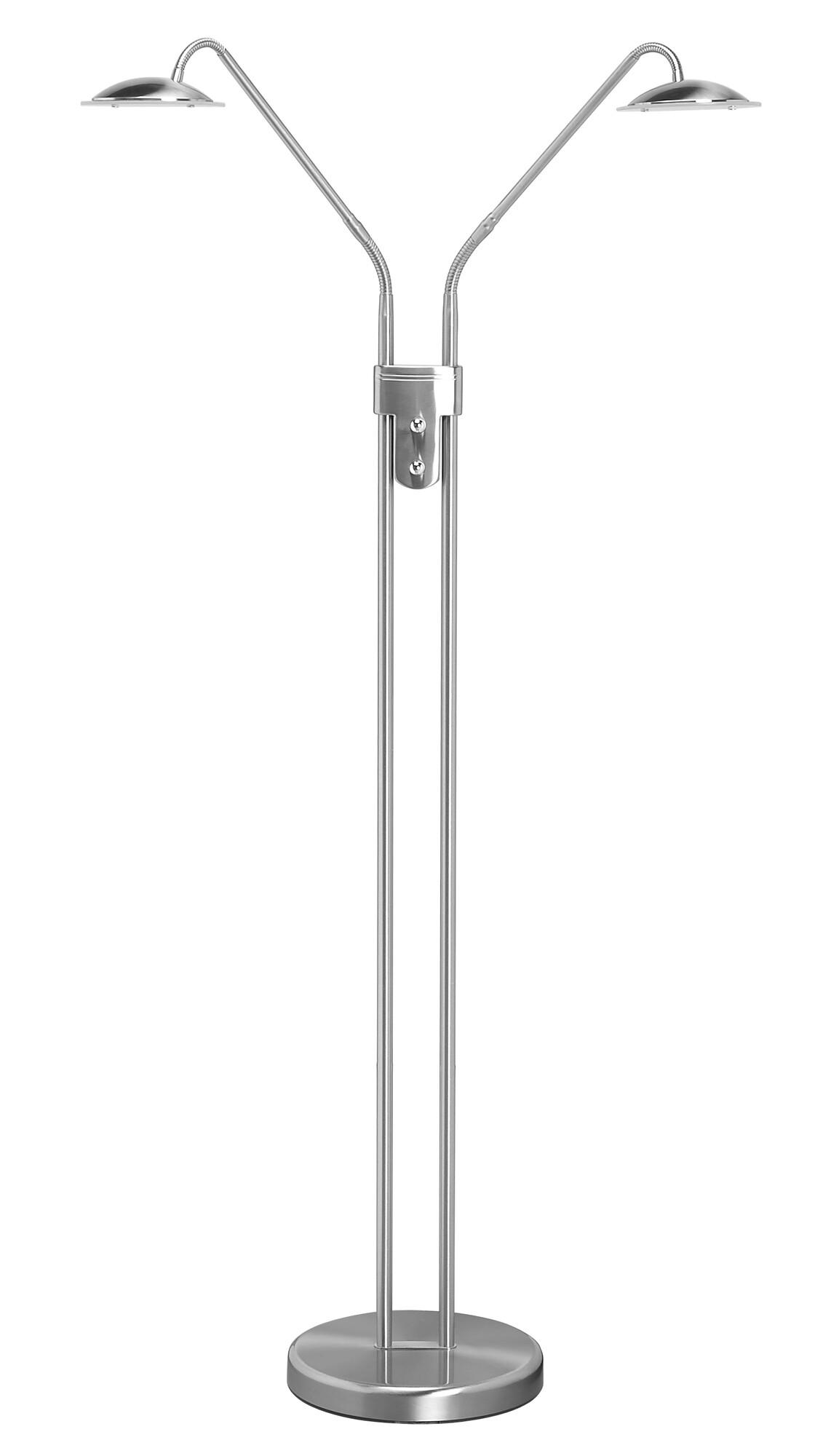 JUPITER Lampadaire LED 2x6W/540lm Argent