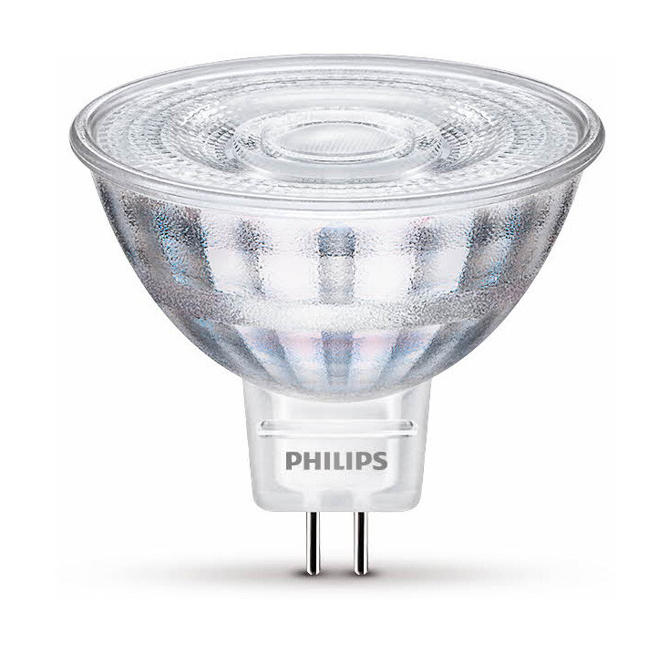 Philips LED GU5,3 3W 230lm 2700K Lamp Transparant