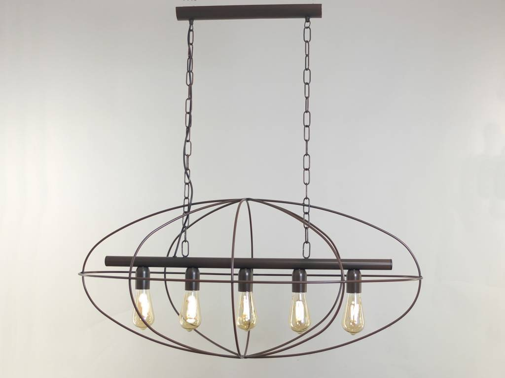LISBOA Hanglamp E27 5x Bruin