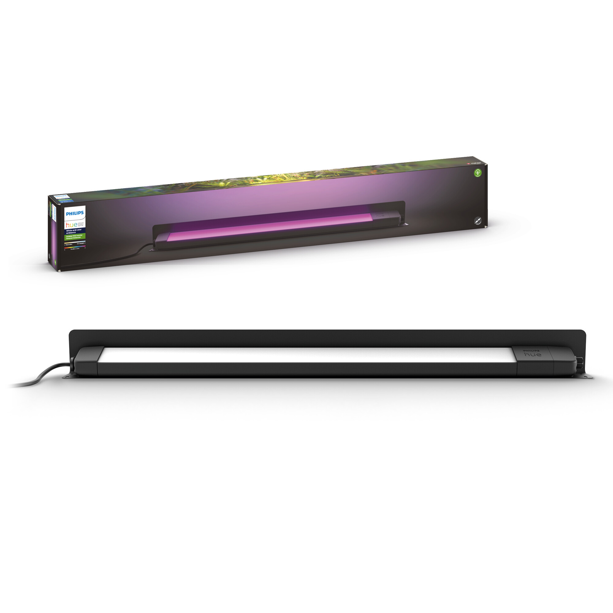 Philips HUE Amarant Straler LED 1x20W/1400lm Rechthoekig Zwart