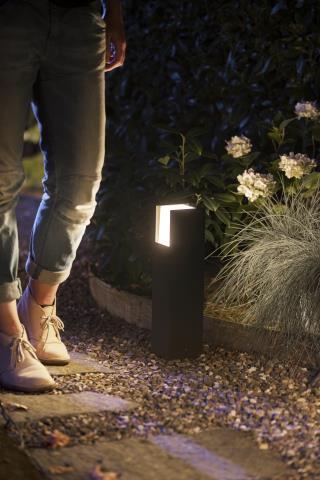 Philips HUE FUZO Tuinpaal LED 1x15W/1150lm Zwart