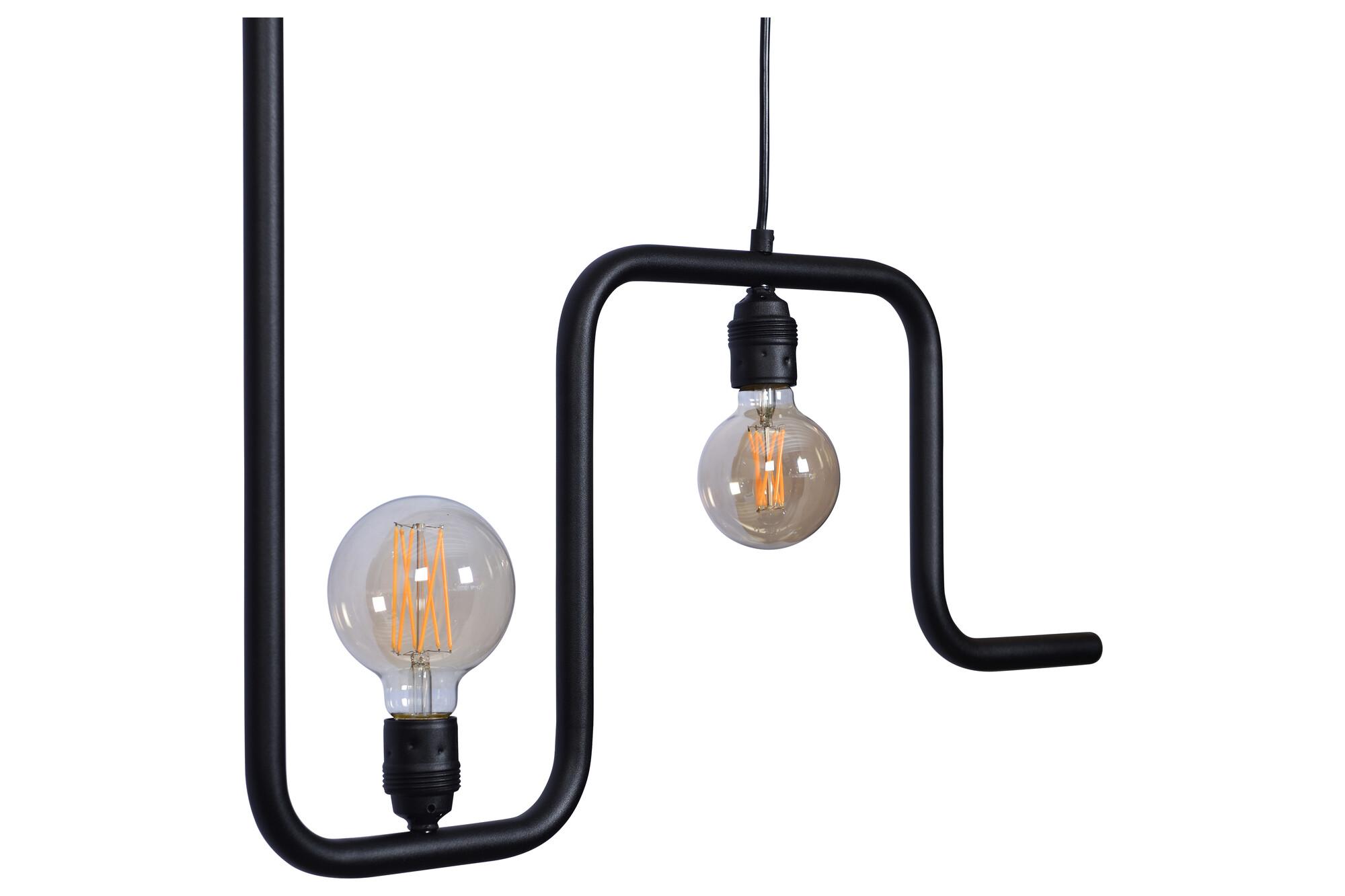 IMPERIA Hanglamp E27 5x Zwart