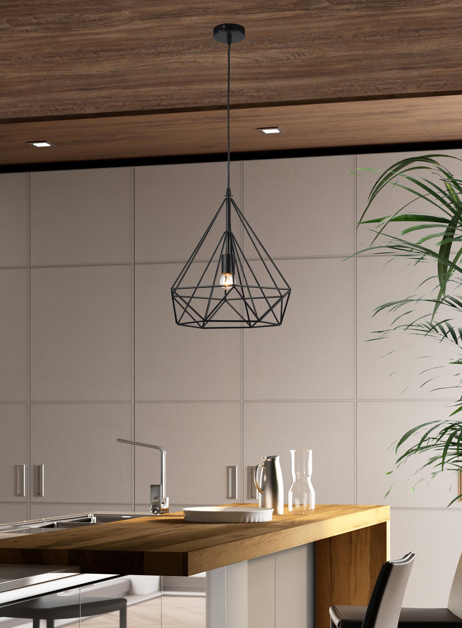 ARTY Hanglamp E27 1x Zwart
