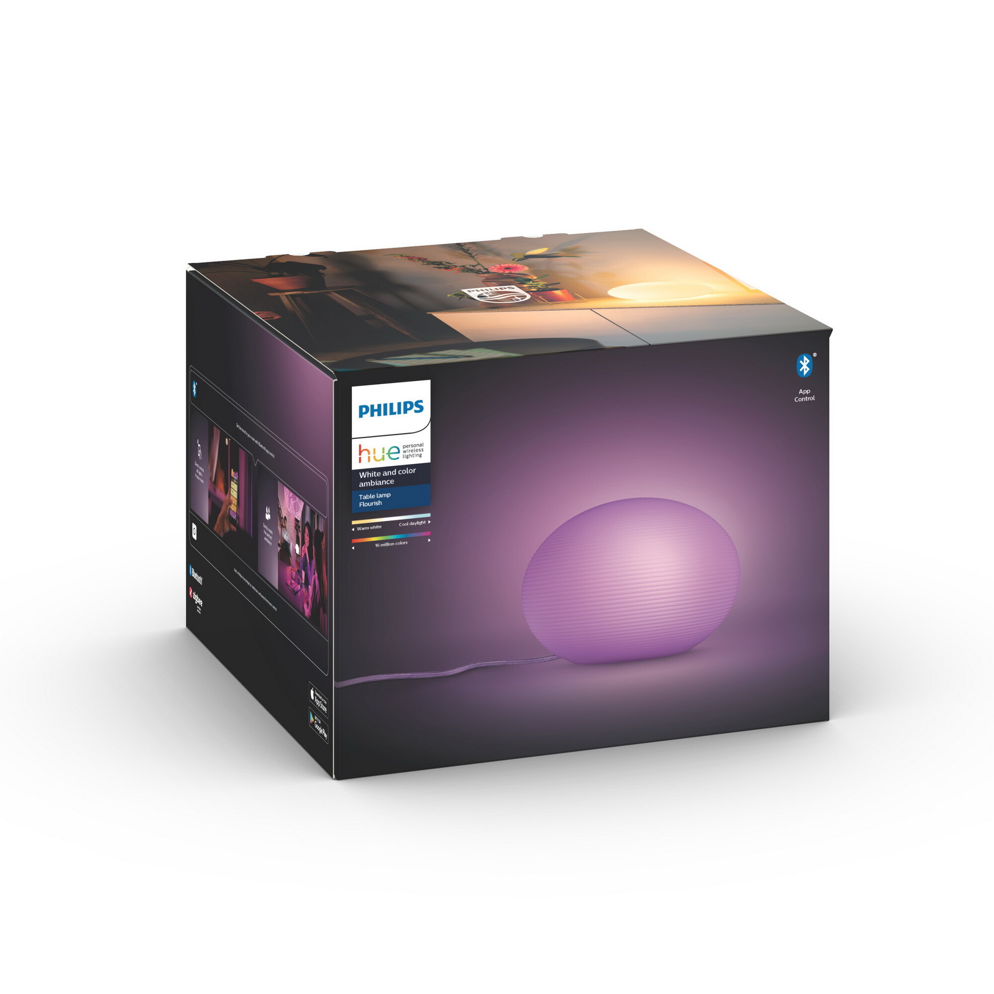 Philips HUE FLOURISH Tafellamp E27 1x9,5W Wit
