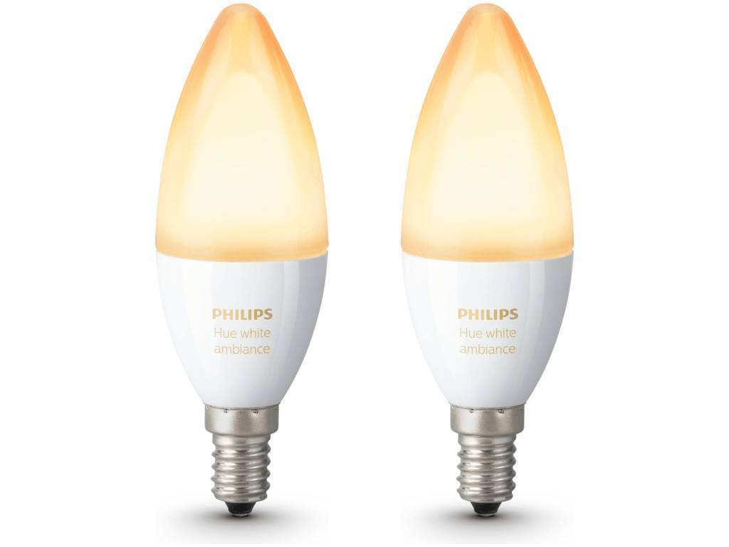 Philips HUE White ambiance E14 6W 470lm 2200K-6500K Lamp Frosted