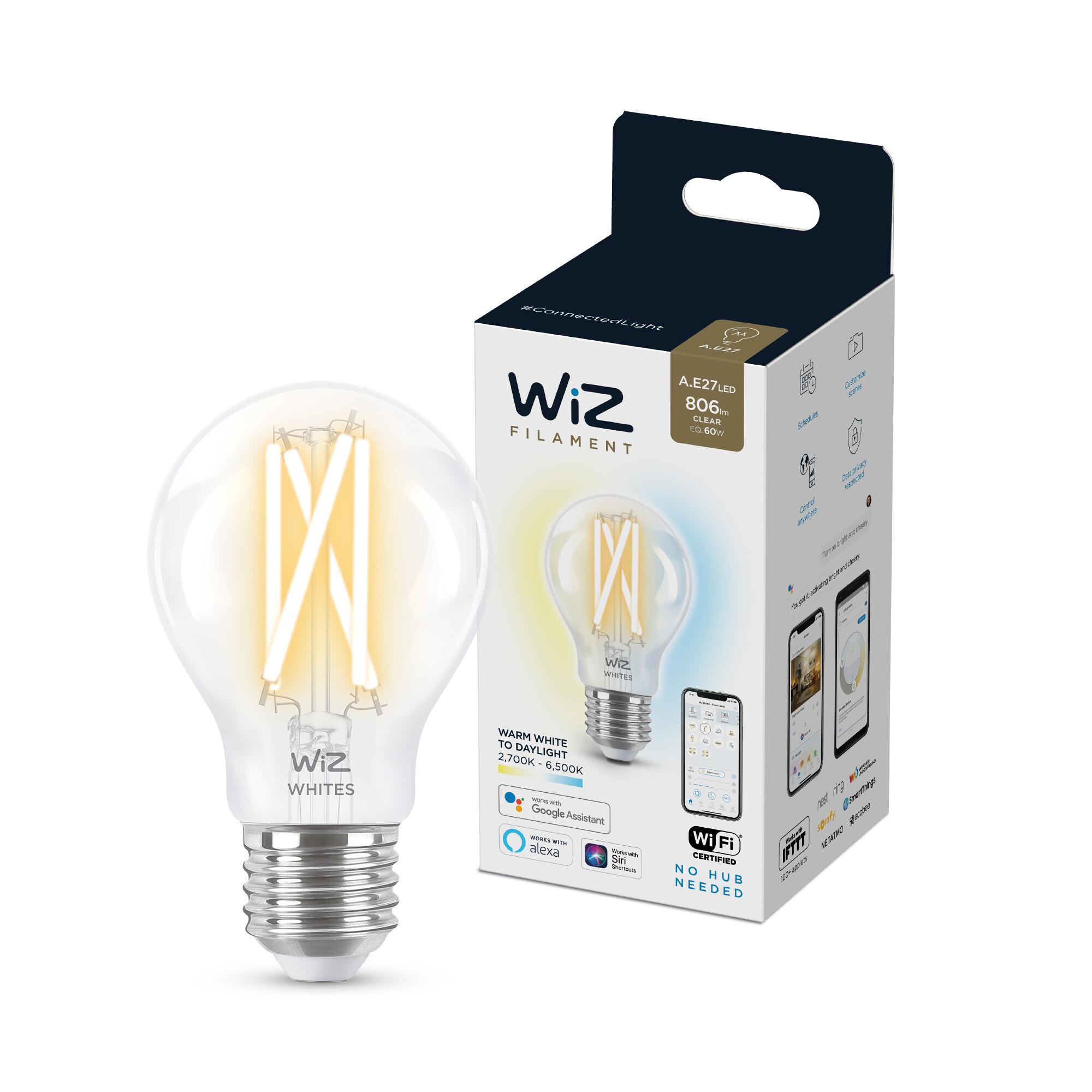 WiZ E27 60W 806lm 2700K Lamp Transparant