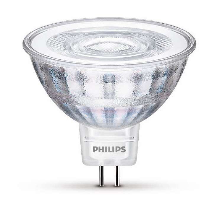 Philips LED GU5,3 5W 345lm 2700K Lamp Transparant