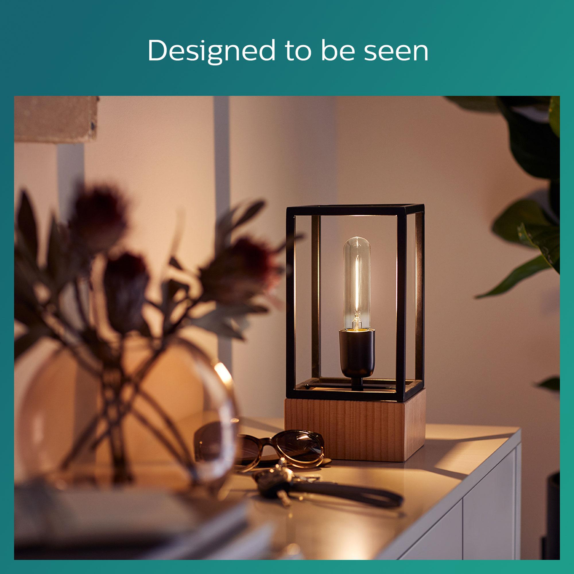 Philips LED classic E27 2,3W 100lm 1800K Staaf Gefumeerde coating