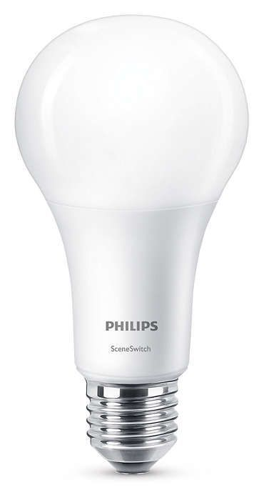 Philips LED SceneSwitch E27 14W 1521lm 2700K + 4000K Ampoule Opaque